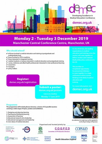 Developing Excellence in Medical Education Conference (DEMEC) 2019